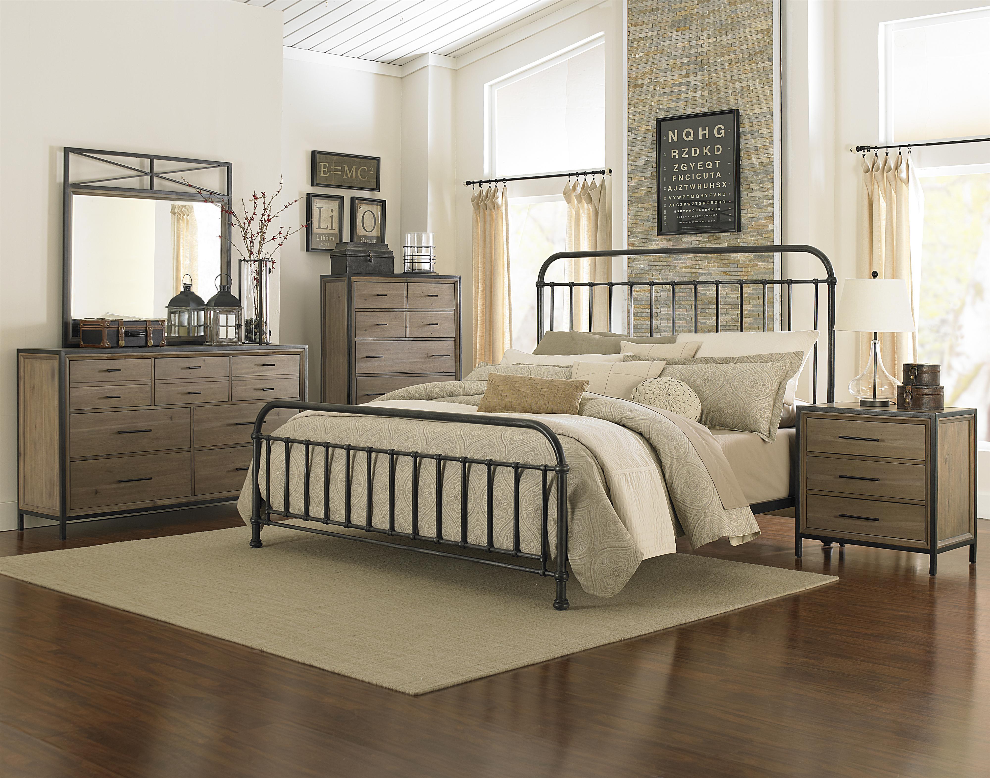 King metal bed for Metal bedroom furniture