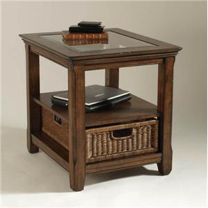 Magnussen Home Tanner Rectangular End Table