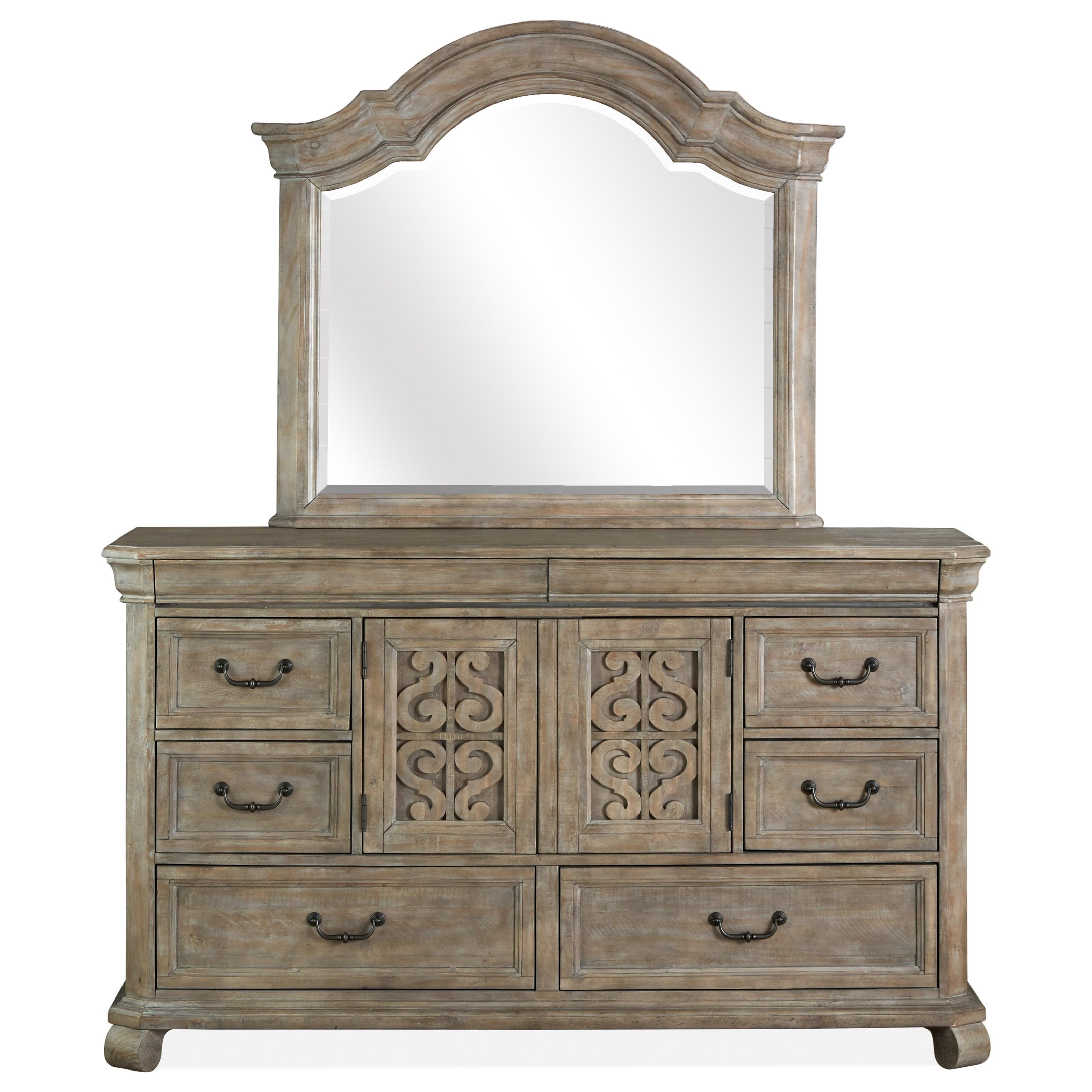Drawer Dresser & Mirror Set