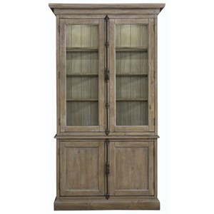 Relaxed Vintage China Cabinet with 3-Way Touch Lighting
