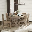 Magnussen Home Tinley Park 7 Piece Dining Table Set - Item Number: D4646-20+6x60