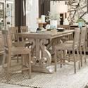 Magnussen Home Tinley Park 7 Pc Pub Dining Set - Item Number: D4646-42T+42B+6x80