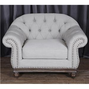 Magnussen Home Victoria Chair - Greystone