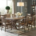Magnussen Home Willoughby 7-Piece Rectangular Dining Table Set - Item Number: D4209-20+6x60