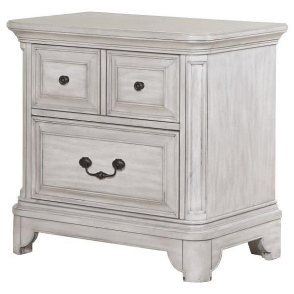 Windsor Lane Drawer Nightstand by Magnussen Home at Johnny Janosik