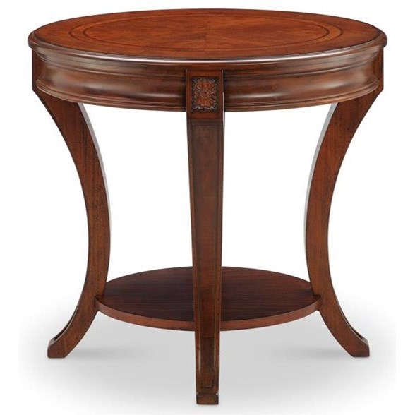 Inverness Inverness Oval End Table by Magnussen Home at Morris Home