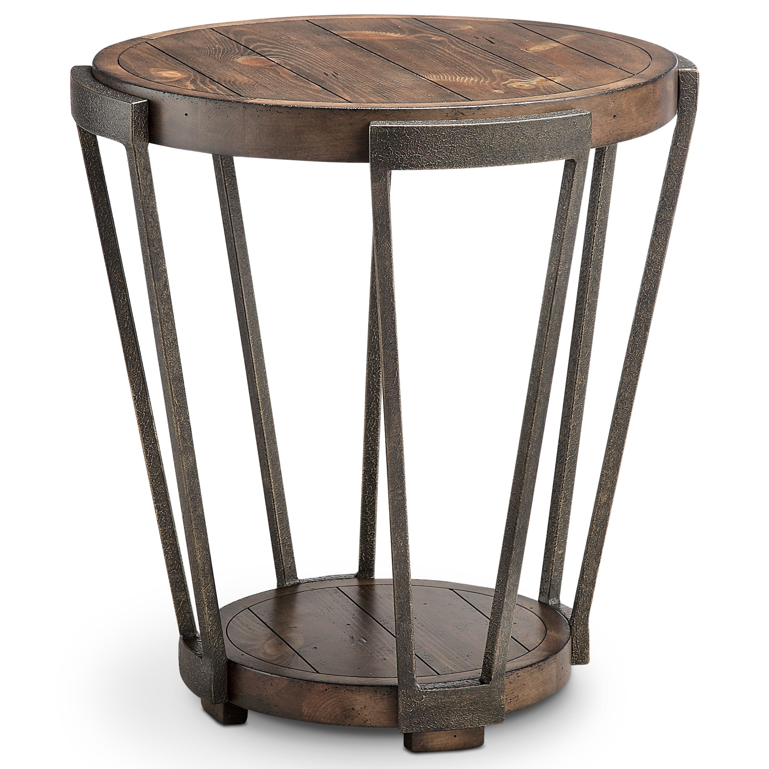 Magnussen Home Yukon Round End Table   Item Number: T4405 05