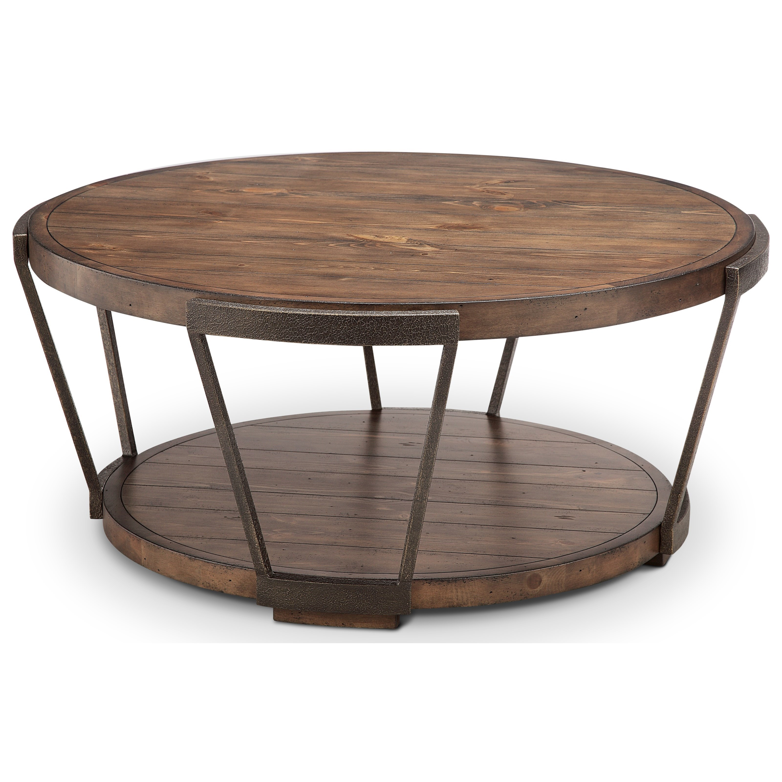 - Magnussen Home Yukon T4405-45 Round Cocktail Table With Casters