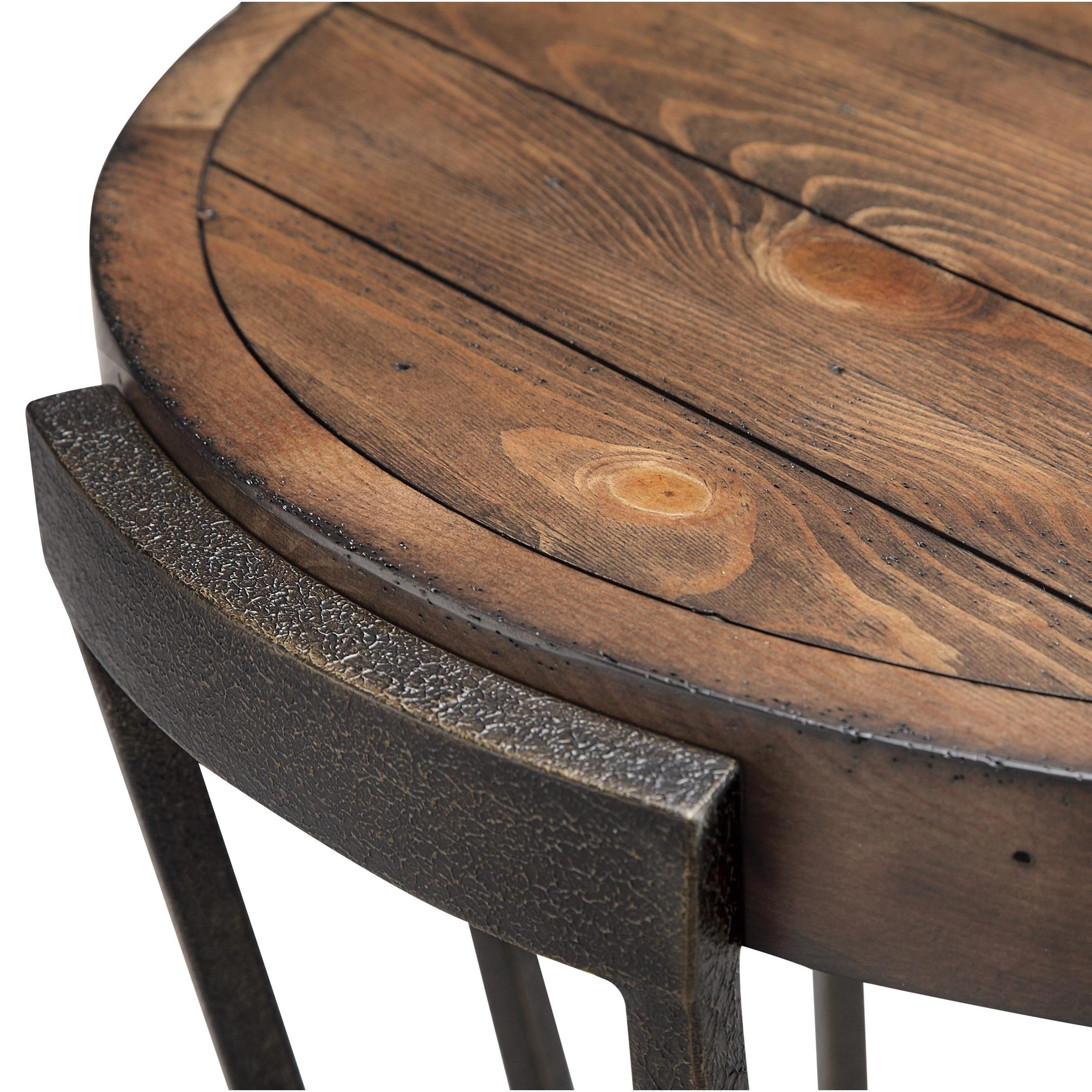 Magnussen Home Cranfill Round Cocktail Table: Magnussen Home Yukon Round Cocktail Table With Casters
