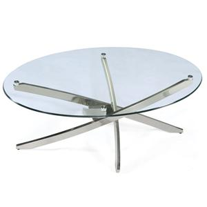 Magnussen Home Zila Oval Cocktail Table