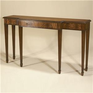 Console/Sofa Tables Aged Regency Mahogany Finished Sofa Table w/ Crotch Veneers & Dark Antique Brass Accents by Maitland-Smith