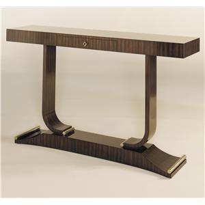 Maitland-Smith Console/Sofa Tables Ebony Zebrano Veneer Console Table