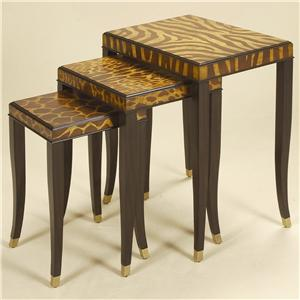 Maitland-Smith End Tables Set of Three Ebony Finished Nest of Tables