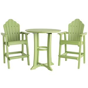 Malibu Outdoor Living Malibu Outdoor Furniture 3 Piece Outdoor Dining Set