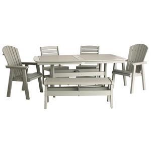 Malibu Outdoor Living Malibu Outdoor Furniture 6 Piece Outdoor Dining Set