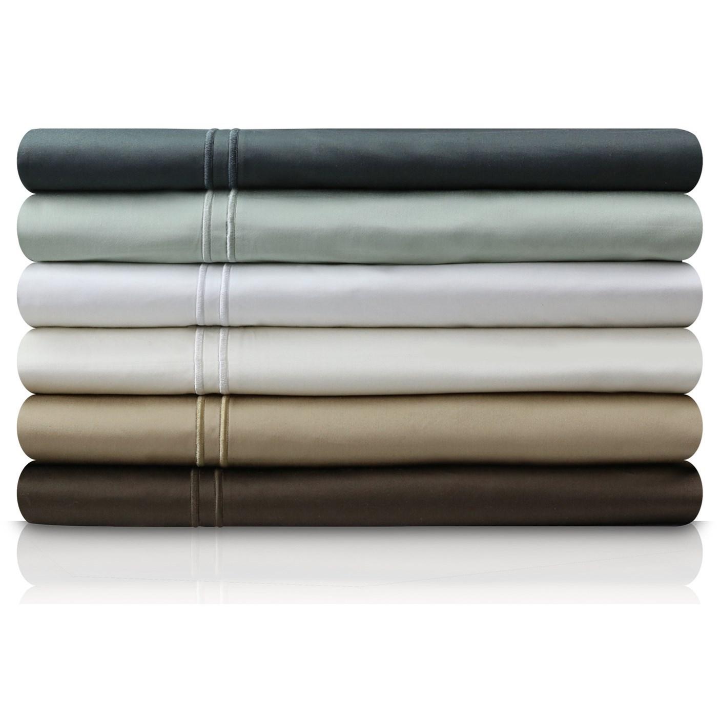 Malouf Egyptian Cotton Split King 600 TC Egyptian Cotton Sheet Set - Item Number: MA06SKSLSS