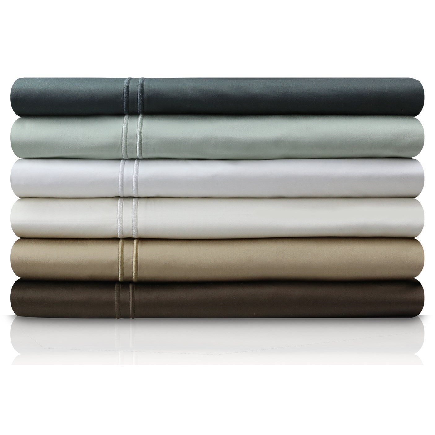 Malouf Egyptian Cotton Split Queen 600 TC Egyptian Cotton Sheet Set - Item Number: MA06SQWHSS