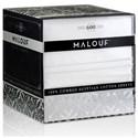 Malouf Egyptian Cotton Twin 600 TC Egyptian Cotton Sheet Set