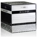 Malouf Egyptian Cotton Twin XL 600 TC Egyptian Cotton Sheet Set