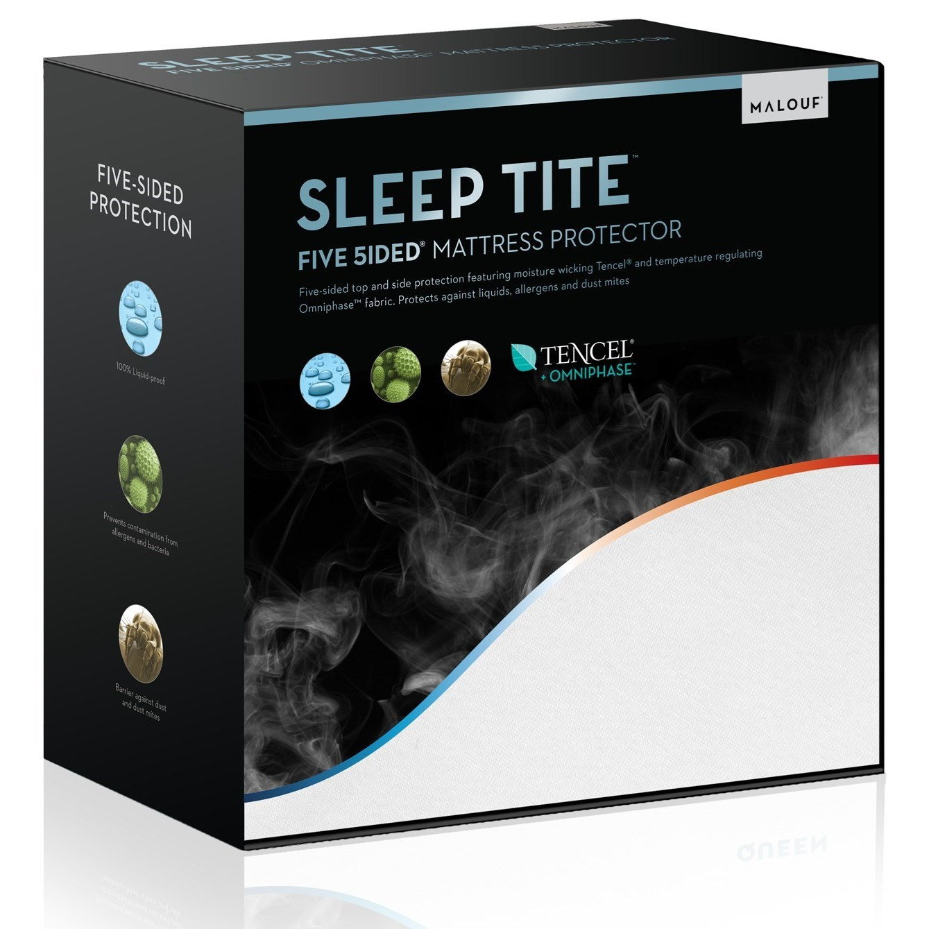 Malouf Five 5ided Omniphase Twin Five 5ided Mattress Protector - Item Number: SLOTTT5P