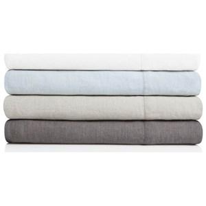 Malouf French Linen King 100% French Linen Sheet Set