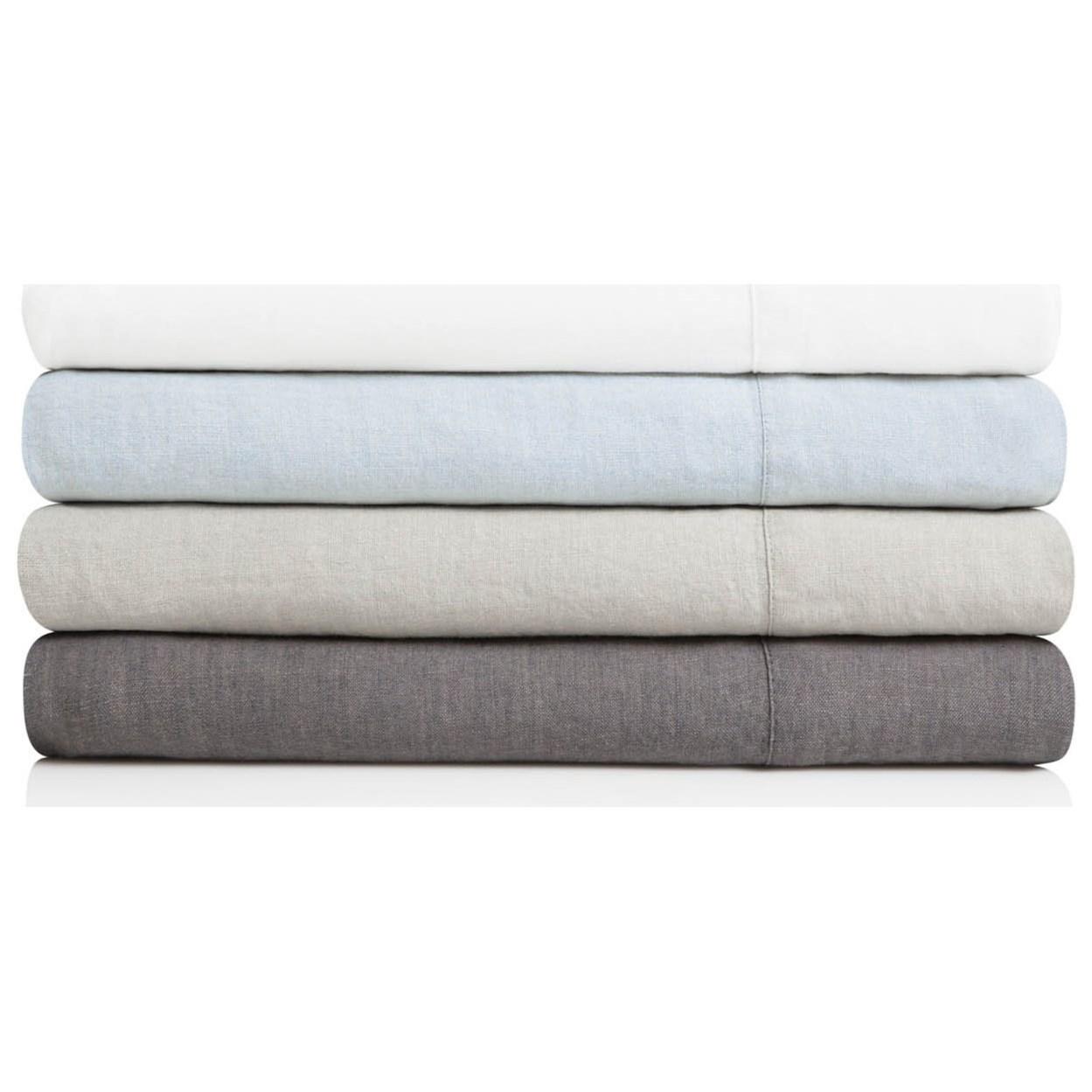 Split King 100% French Linen Sheet Set