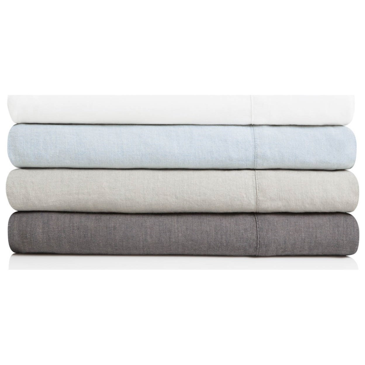 French Linen Split King 100% French Linen Sheet Set by Malouf at Northeast Factory Direct