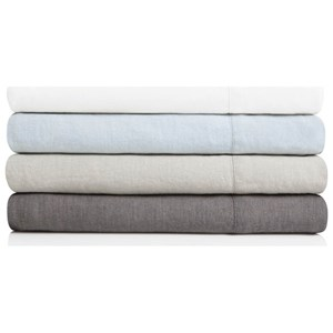 Malouf French Linen Split King 100% French Linen Sheet Set