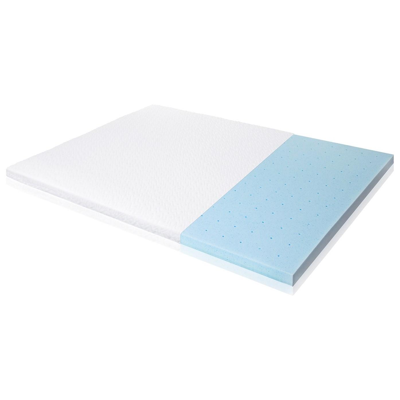 """Malouf Gel Memory Foam Queen 2.5"""" Gel Memory Foam Mattress Topper - Item Number: IS25QQ45GT"""