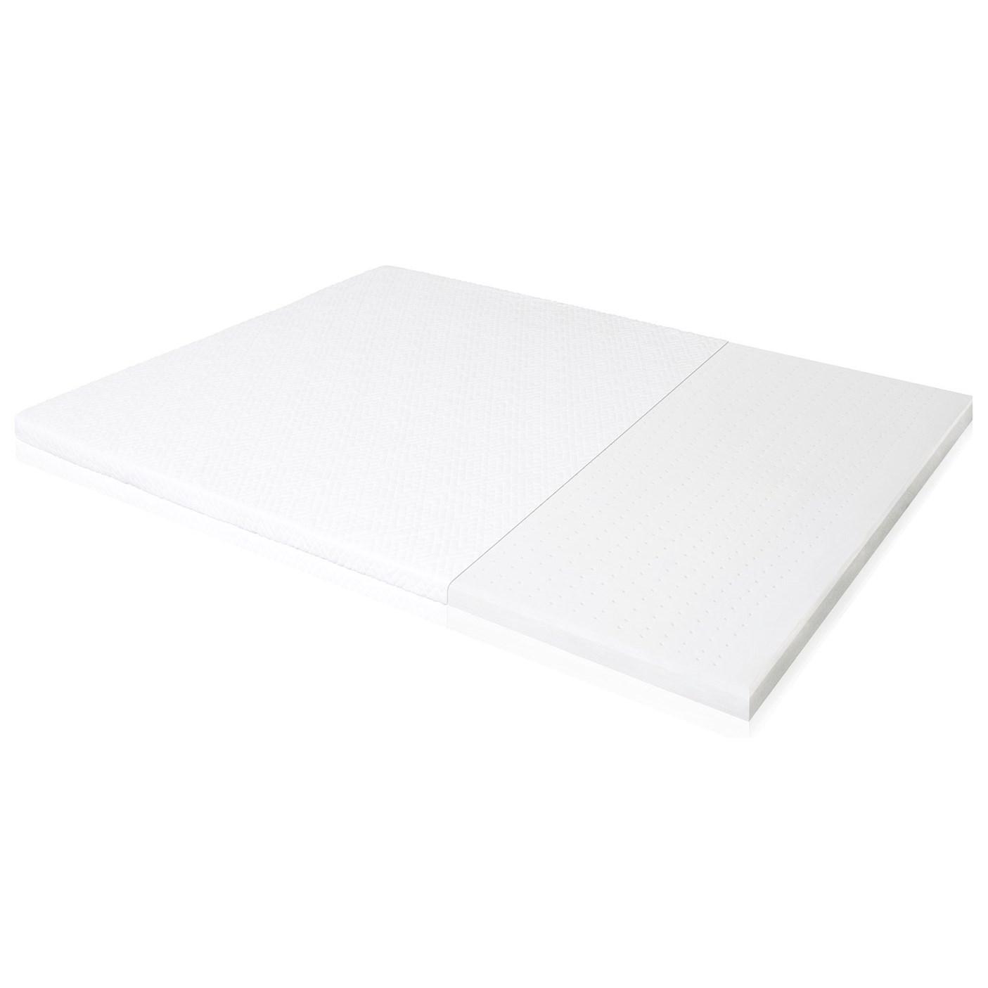 """Malouf Latex Foam Twin 2"""" Latex Foam Mattress Topper - Item Number: IS20TT65LT"""
