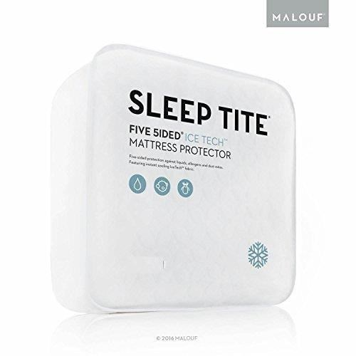 Malouf Mattress Protectors Twin 5 Sided Ice Tech Mattress Protector - Item Number: SLICTT5P