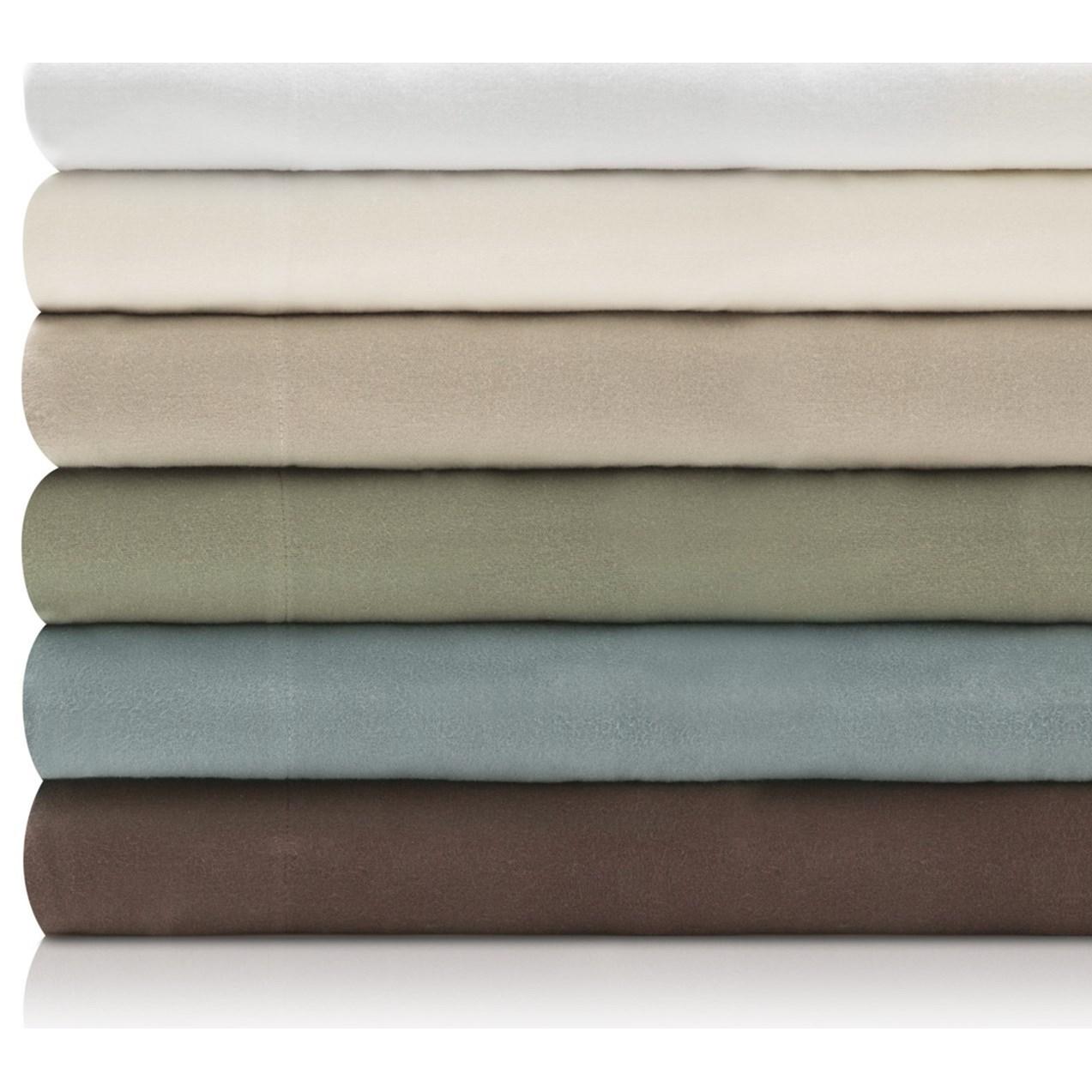 Malouf Portuguese Flannel Queen Woven™ Portuguese Flannel Pillowcases  - Item Number: WO19QQCOFC