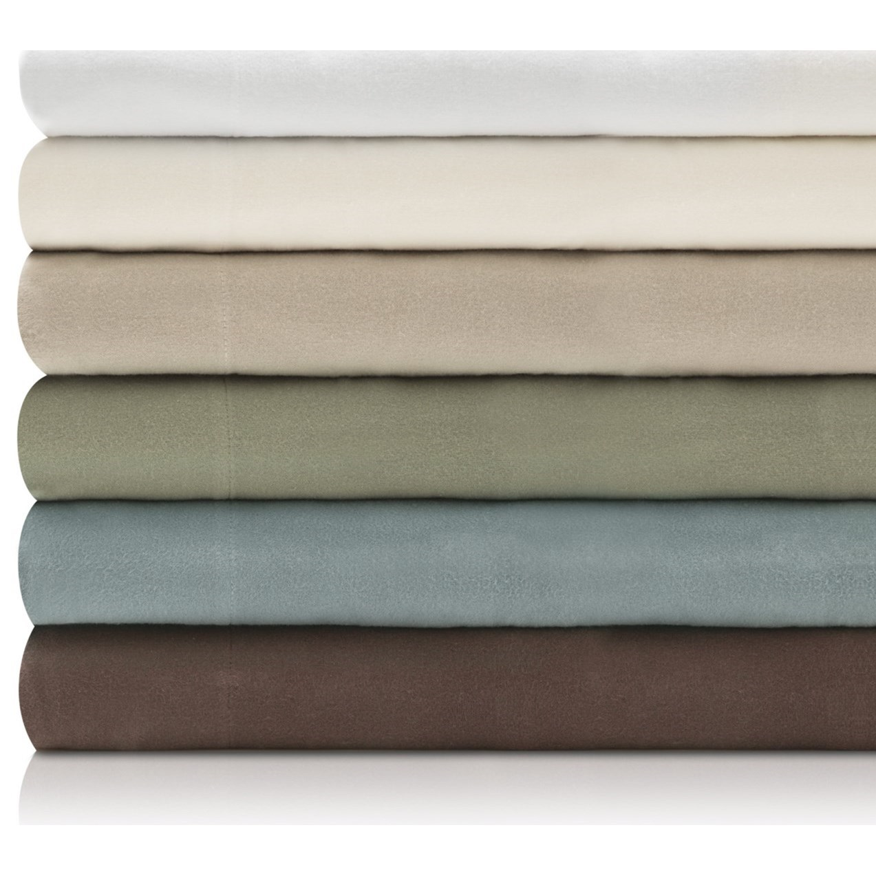 Malouf Portuguese Flannel Queen Woven™ Portuguese Flannel Sheet Set - Item Number: WO19QQIVFS