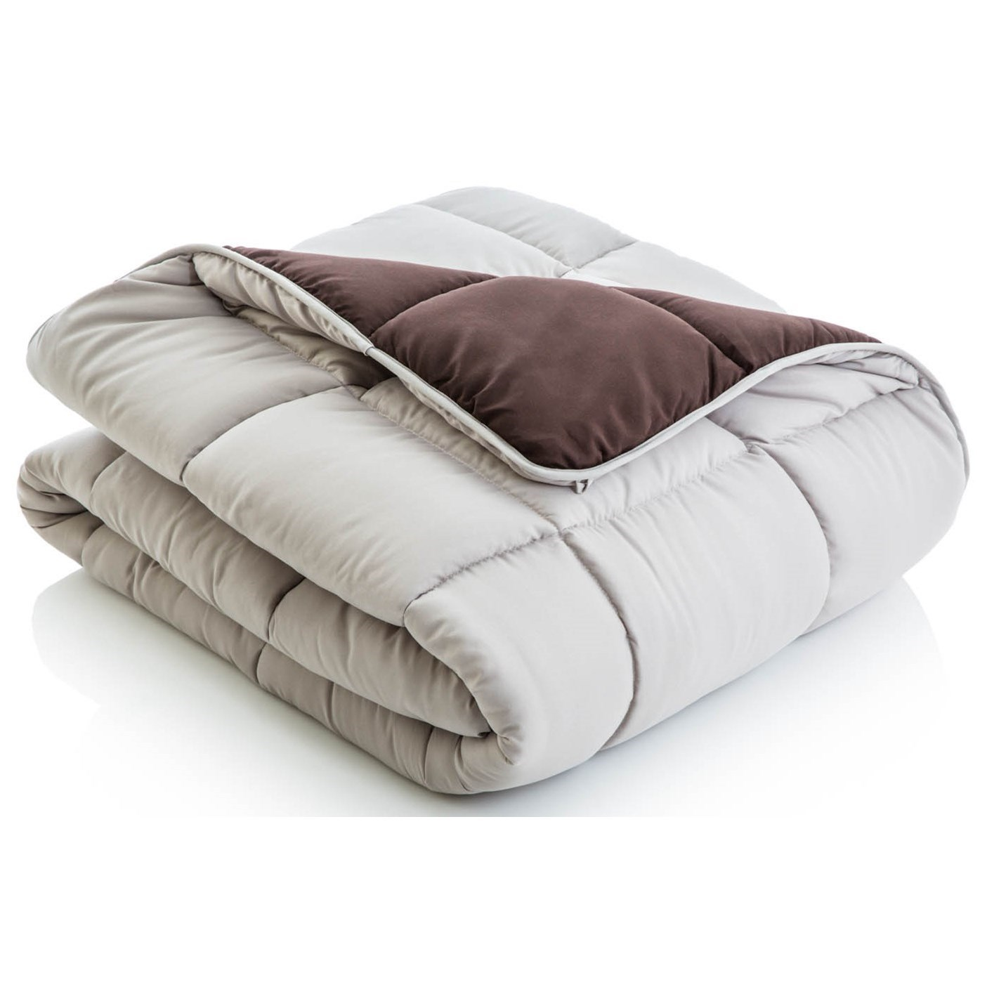 Malouf Reversible Bed in a Bag Split Cal King Reversible Bed in a Bag - Item Number: MA01SCDRCOBB