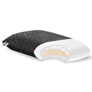 Malouf Shredded Latex and Gelled Microbifer Travel Shredded Latex+Gel Microfiber Pillow