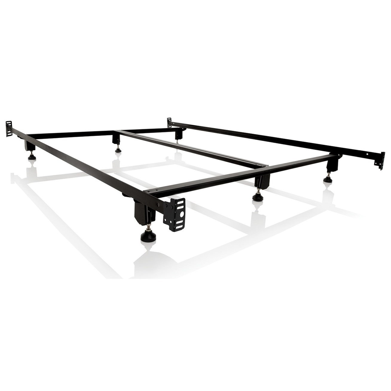 Malouf Steelock Cal King Steelock Bolt-On Bed Frame - Item Number: STHFCKSL