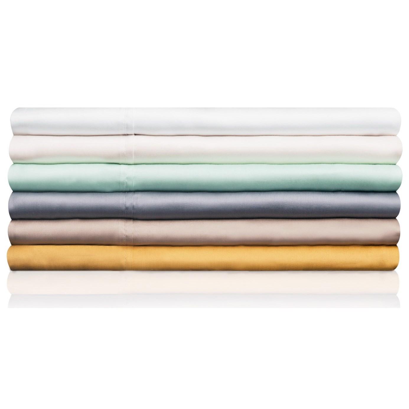 Tencel Ivory Split Queen Sheet Set by Malouf at SlumberWorld