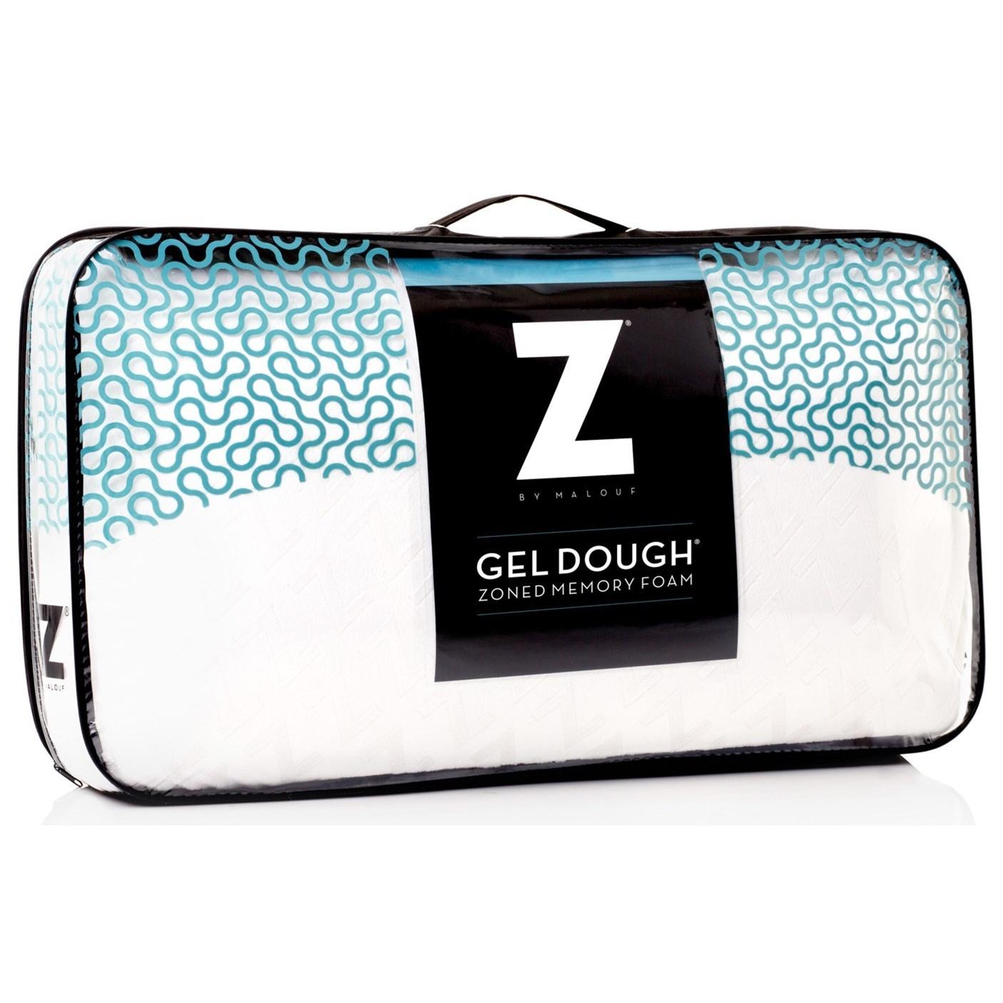 Malouf Zoned Gel Dough Queen Zoned Gel Dough High Loft Pillow - Item Number: ZZQQHPZG