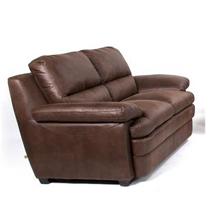 Microfiber Stationary Loveseat with Pillow Top Seating