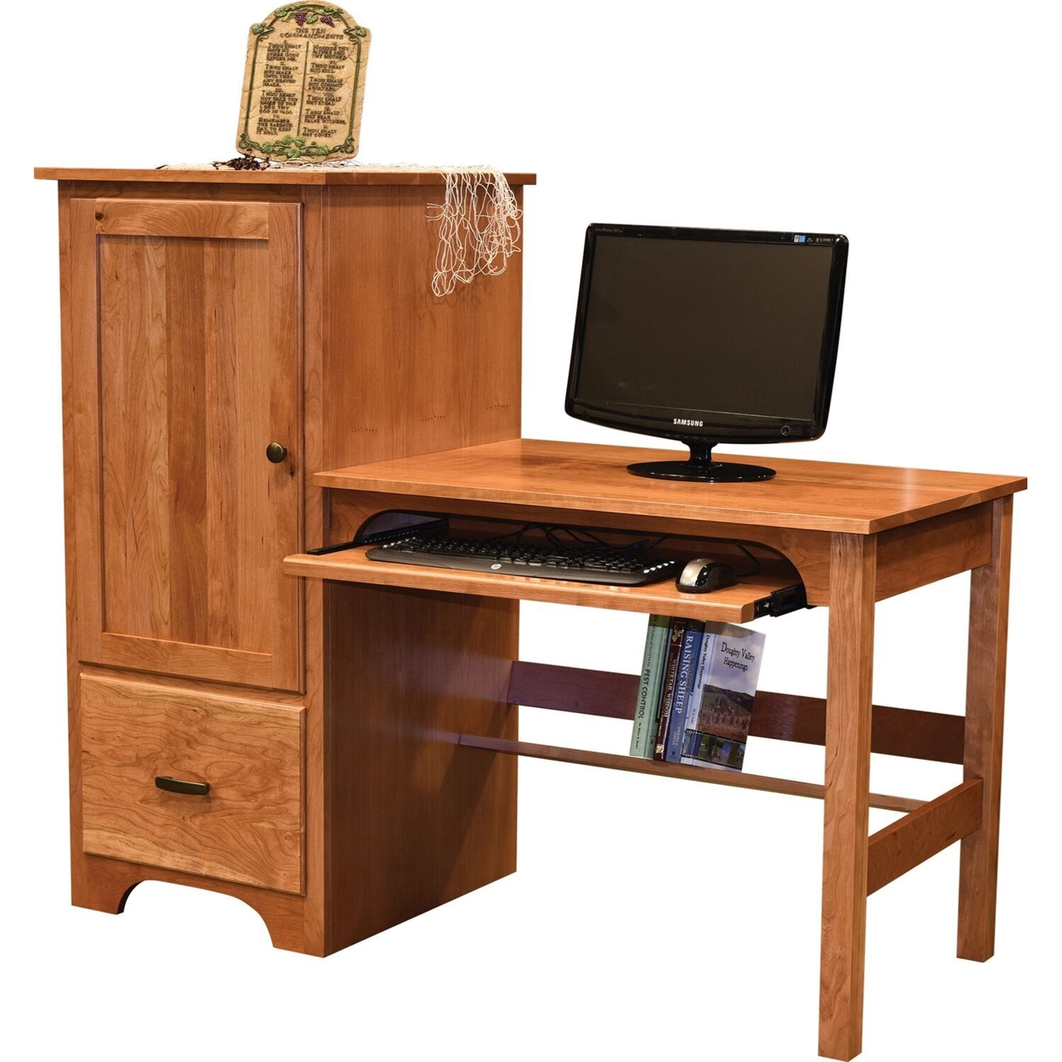 Clark Computer Desk by Maple Hill Woodworking at Saugerties Furniture Mart