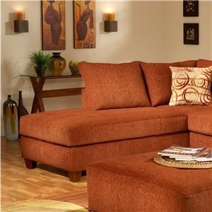 March Upholstery Atlanta Contemporary Left Arm Facing Chaise