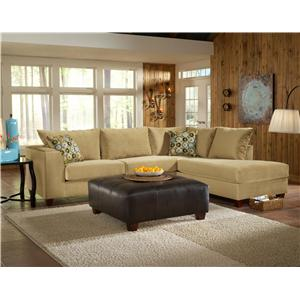 March Upholstery Atlanta Contemporary 2-PC Sectional with Chaise ...