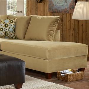 March Upholstery Atlanta Contemporary Right Facing Arm Chaise