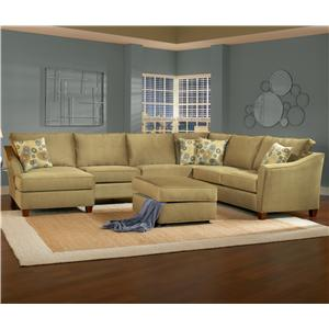 Belfort Essentials Fleetwood 6 Seat Sectional with Left Facing Chaise