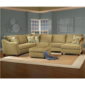 Belfort Essentials Fleetwood 6 Seat Sectional Sofa With Right Facing
