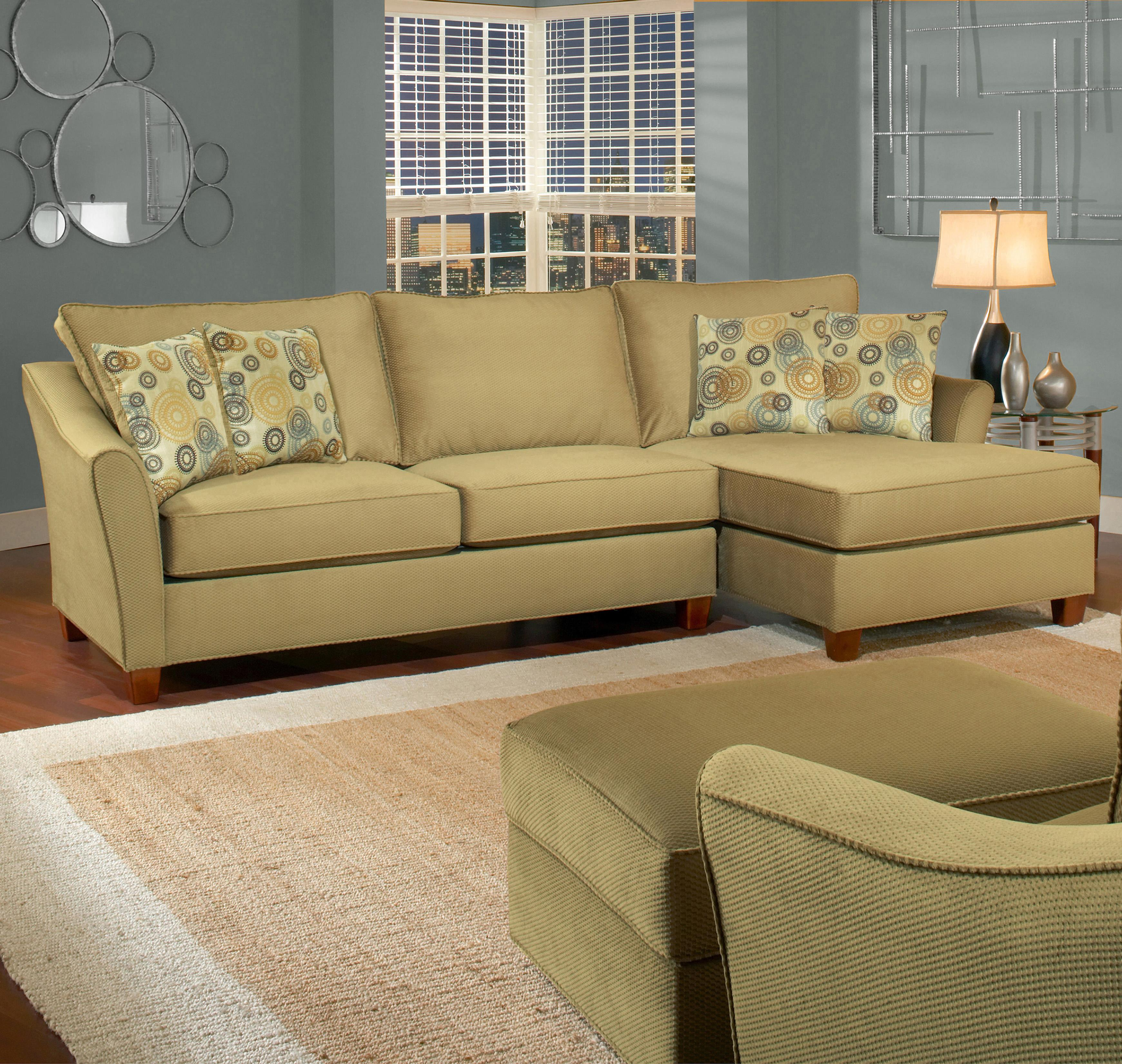 Belfort Essentials Fleetwood 3 Seat Sectional with Right Facing Chaise - Item Number: 5700-30L+24R