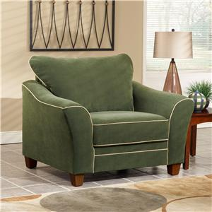 March Upholstery Hayden Living Room Chair with Flared Arms