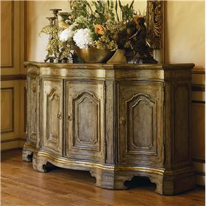 Les Marches 4 Door Credenza with Madeira Marble Top by Marge Carson