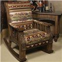 Marshfield Pine Creek Upholstered Rocker Chair - Item Number: 2374-21-Pine Deer