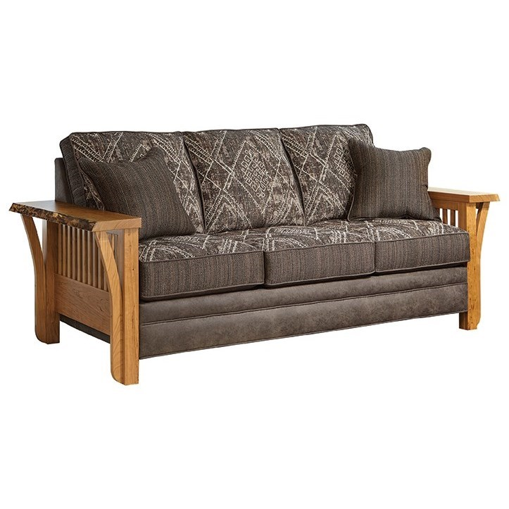 Rustic Edge Rustic Sofa with Live Edge by Marshfield at Conlin\'s Furniture
